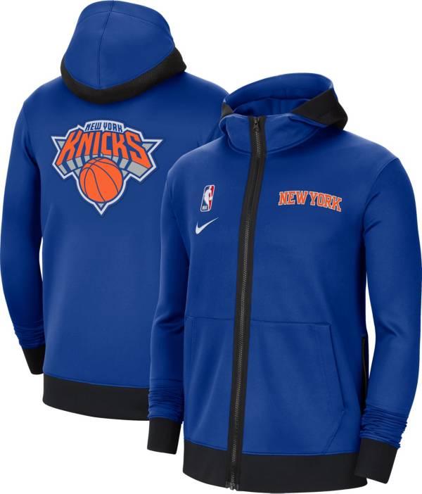 Nike Men's New York Knicks Blue Therma Flex Full-Zip Hoodie product image