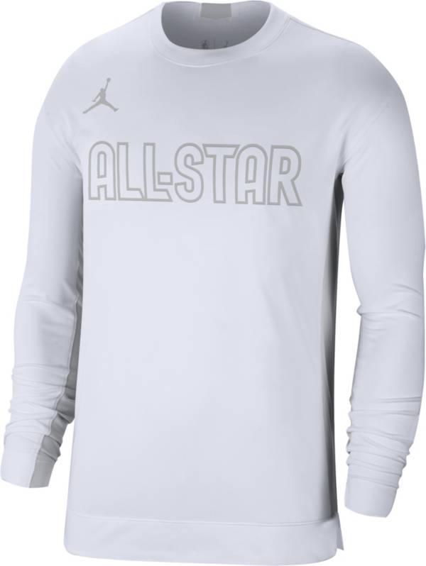 Jordan Men's 2020 NBA All-Star Game Dri-FIT White Long Sleeve Shooter T-Shirt product image