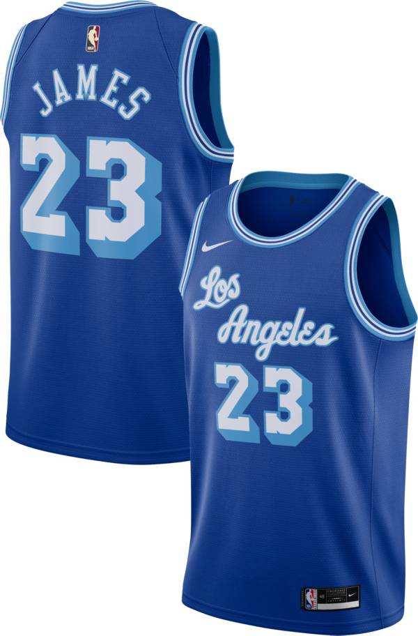 Nike Men's Los Angeles Lakers LeBron James #23 Blue Hardwood Classic Jersey product image