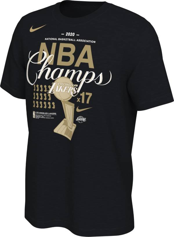 Nike Men's 2020 NBA Champions Los Angeles Lakers 17x Champs T-Shirt product image