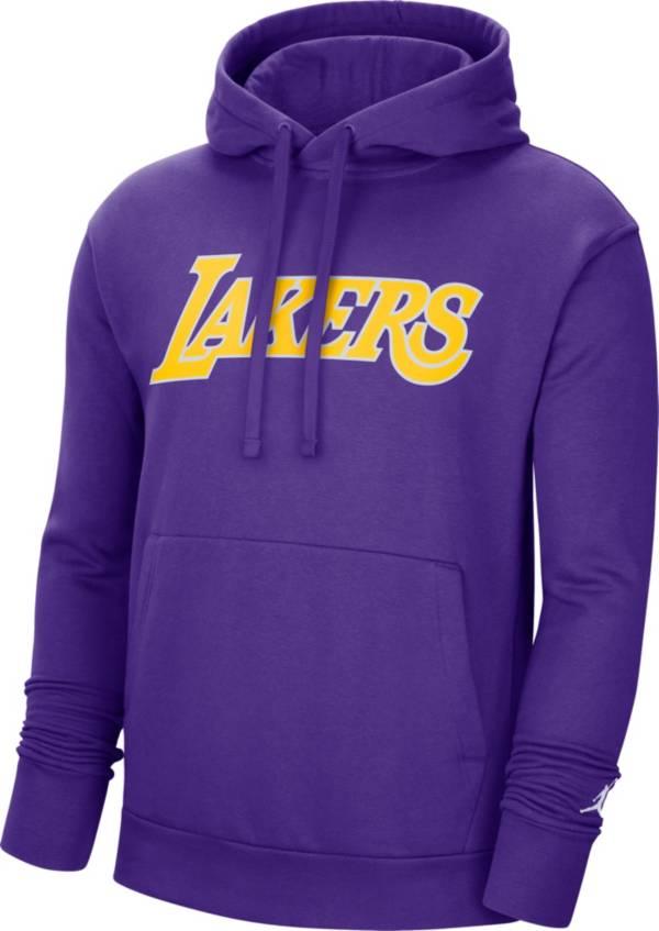 Nike Men S Los Angeles Lakers Purple Statement Pullover Hoodie Dick S Sporting Goods
