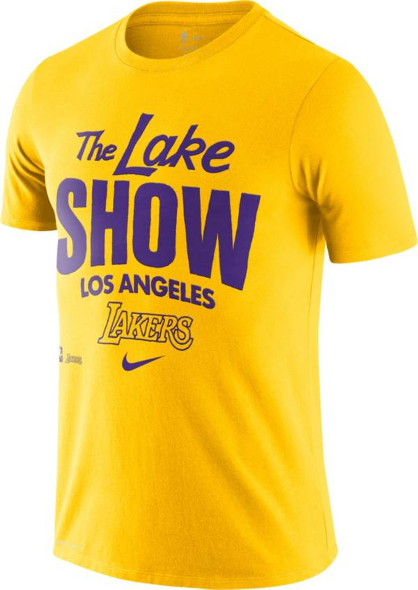 Nike Men's Los Angeles Lakers Gold Dri-FIT Mantra T-Shirt product image