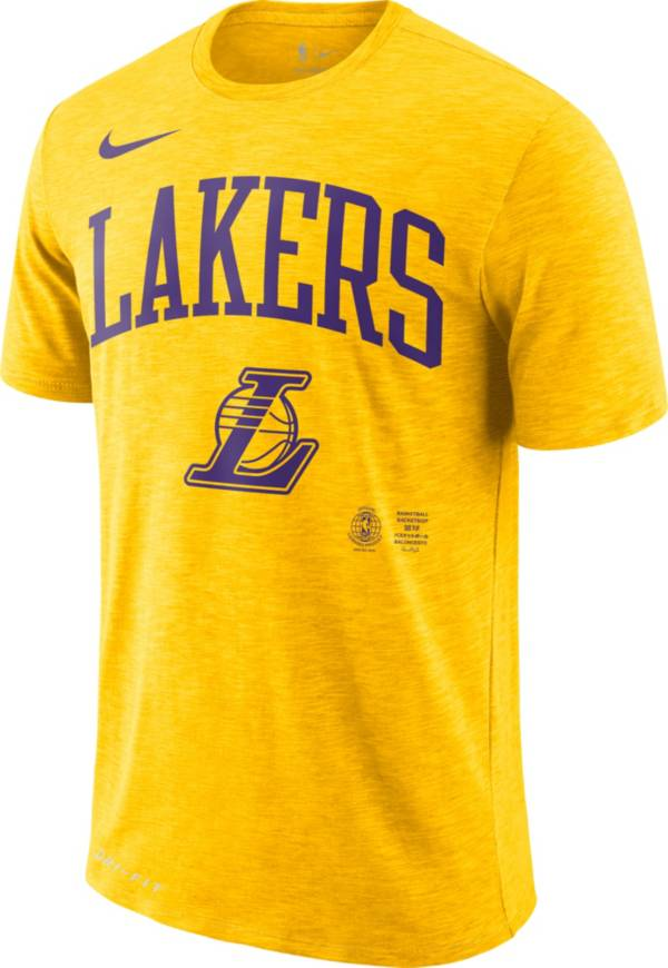 Nike Men's Los Angeles Lakers Dri-FIT Arch Wordmark Slub T-Shirt product image