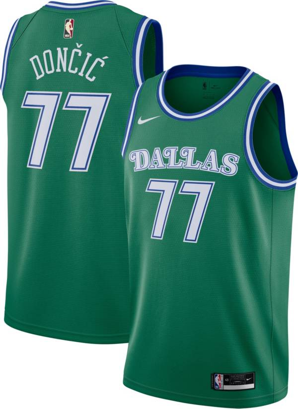 Nike Men's Dallas Mavericks Luka Doncic #77 Green Hardwood Classic Swingman Jersey product image