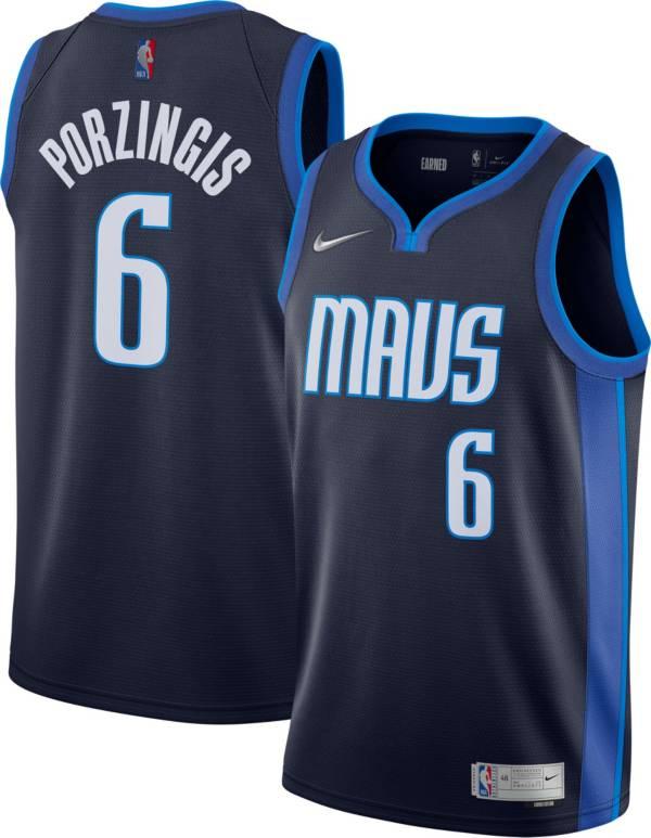 Nike Men's Dallas Mavericks 2021 Earned Edition Kristaps Porzingis Dri-FIT Swingman Jersey product image