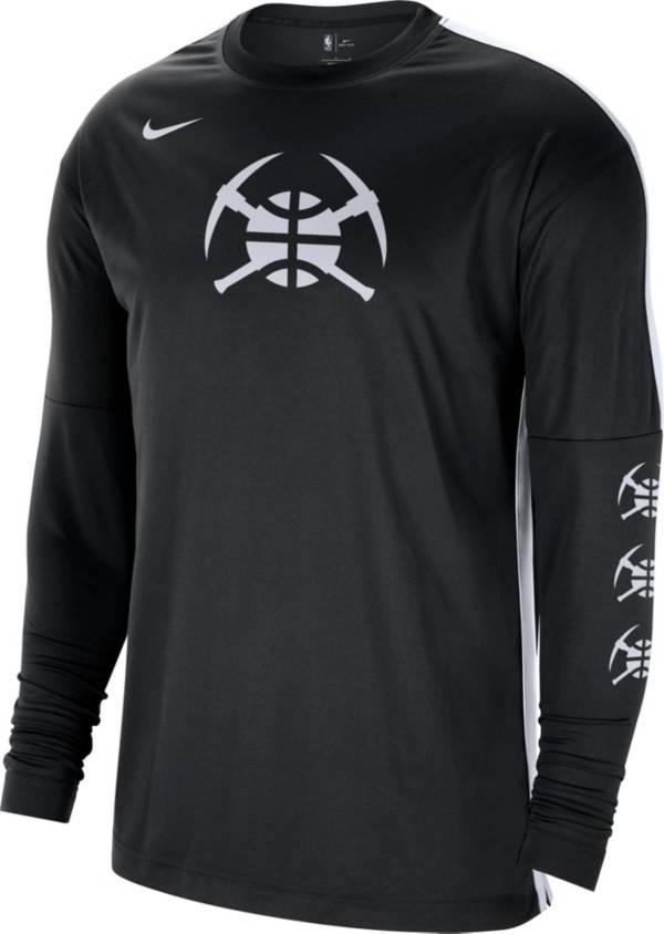 Nike Men's Denver Nuggets Black Tonal Dri-FIT Long Sleeve Shooting Shirt product image