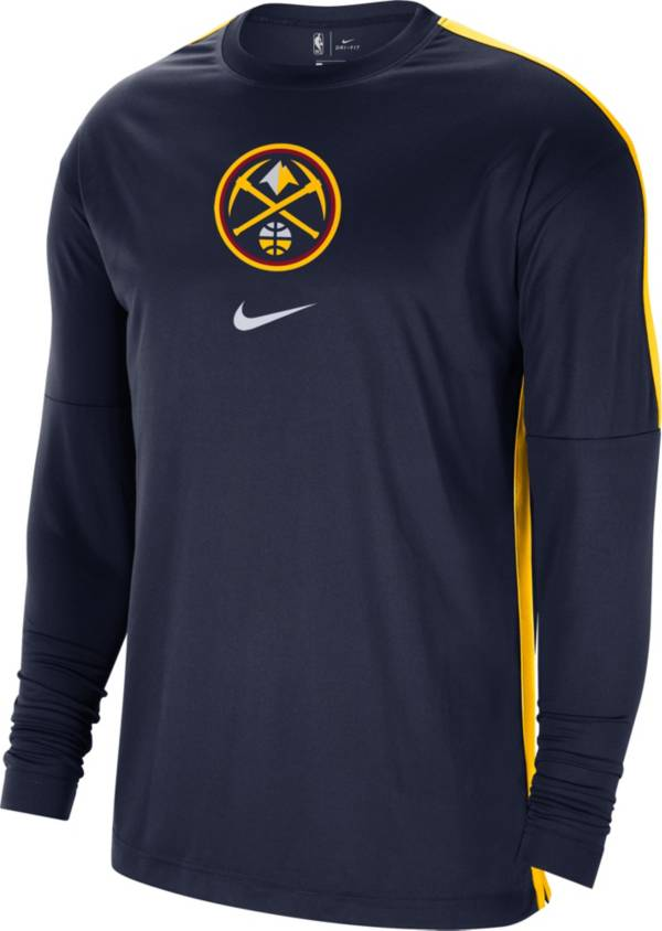 Nike Men's Denver Nuggets Navy Dri-FIT Long Sleeve Shooting Shirt product image