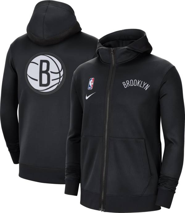Nike Men's Brooklyn Nets Black Therma Flex Full-Zip Hoodie product image