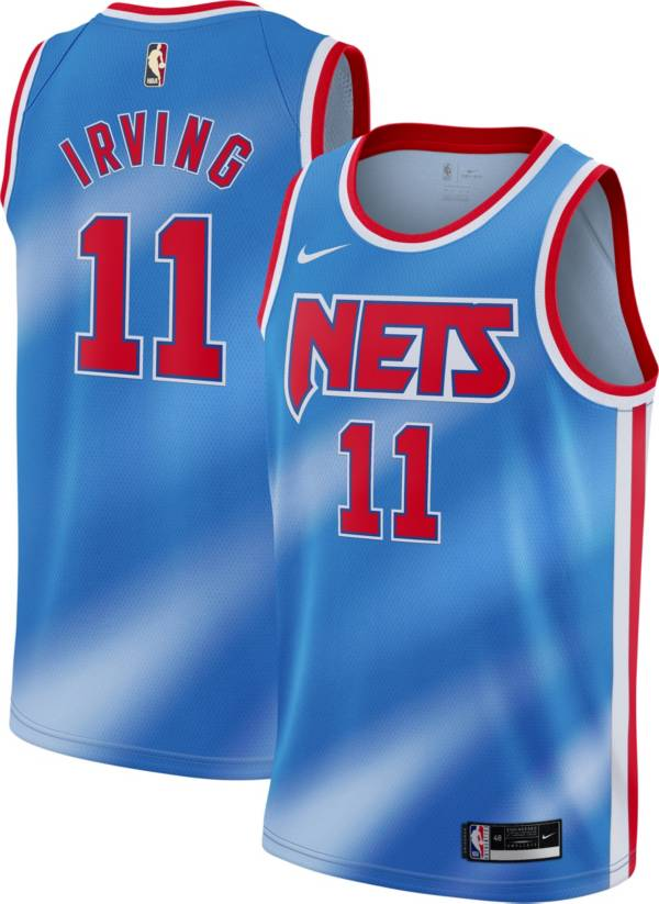 Nike Men's Brooklyn Nets Kyrie Irving # 11 Blue Dri-FIT Hardwood Classic Jersey product image