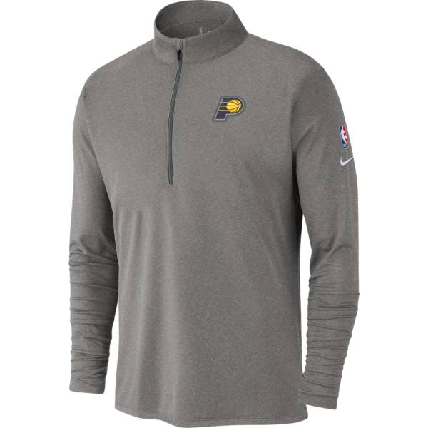 Nike Men's Indiana Pacers Gray Element Quarter-Zip product image