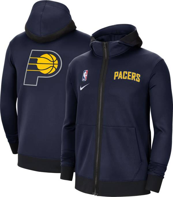 Nike Men's Indiana Pacers Navy Therma Flex Full-Zip Hoodie product image