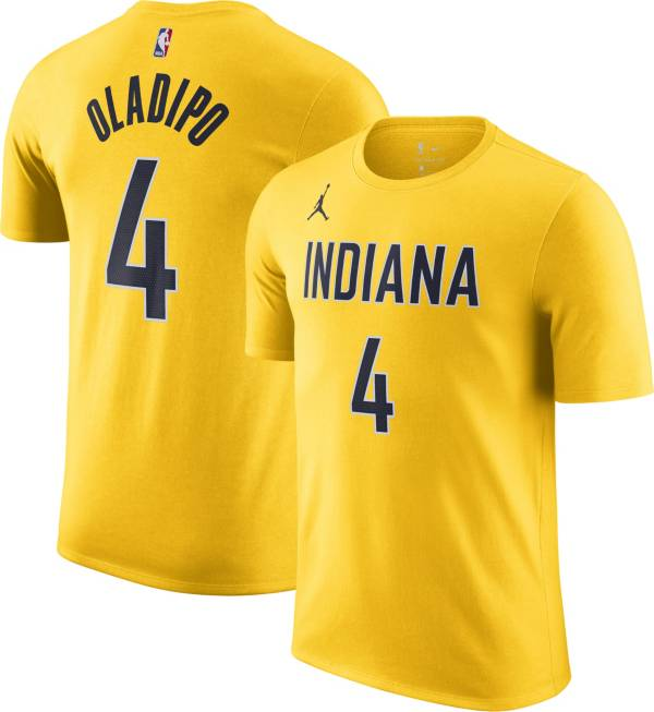 Jordan Men's Indiana Pacers Victor Oladipo #4 Gold Statement T-Shirt product image
