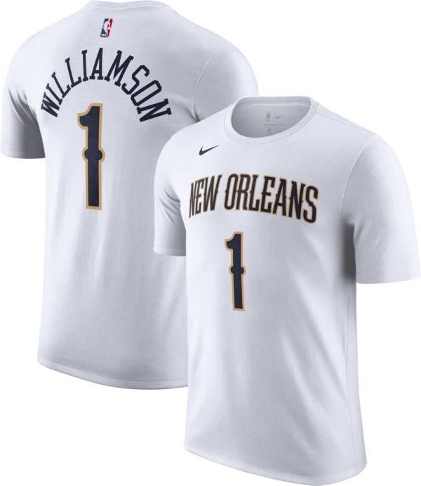Nike Men's New Orleans Pelicans Zion Williamson #1 Dri-FIT White T-Shirt product image