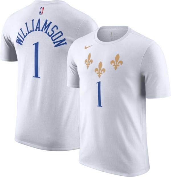 Nike Men's 2020-21 City Edition New Orleans Pelicans Zion Williamson #1 Cotton T-Shirt product image