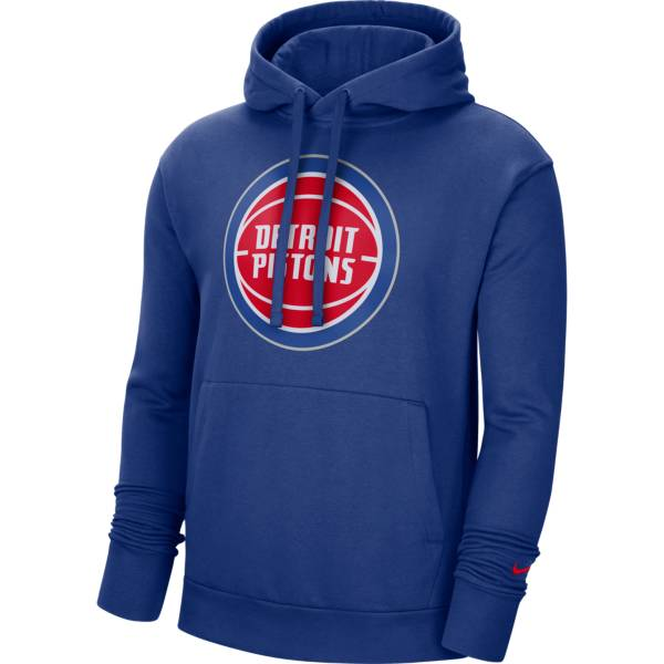 Nike Men's Detroit Pistons Blue Pullover Hoodie product image