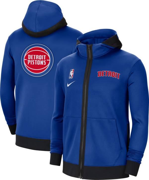 Nike Men's Detroit Pistons Blue Therma Flex Full-Zip Hoodie product image