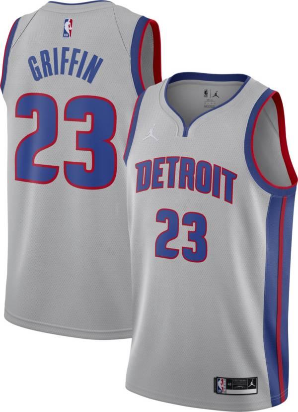 Jordan Men's Detroit Pistons Blake Griffin #23 Grey 2020-21 Dri-FIT Statement Swingman Jersey product image