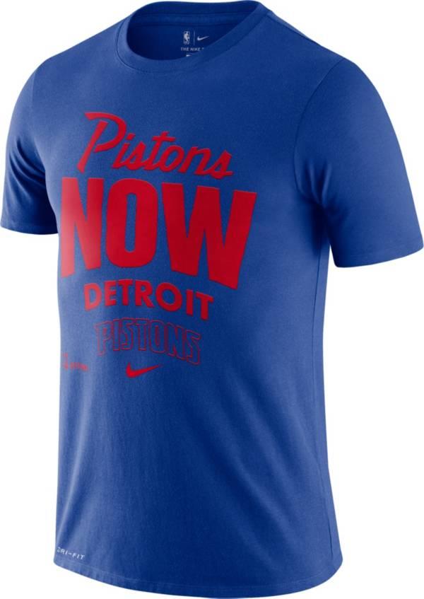Nike Men's Detroit Pistons Blue Dri-FIT Mantra T-Shirt product image