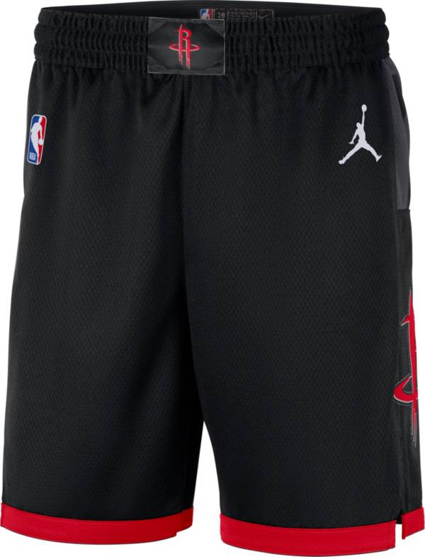 Jordan Men's Houston Rockets Dri-FIT Statement Swingman Black Shorts product image