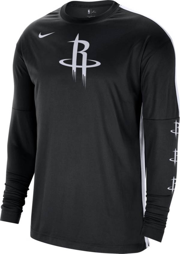 Nike Men's Houston Rockets Black Tonal Dri-FIT Long Sleeve Shooting Shirt product image