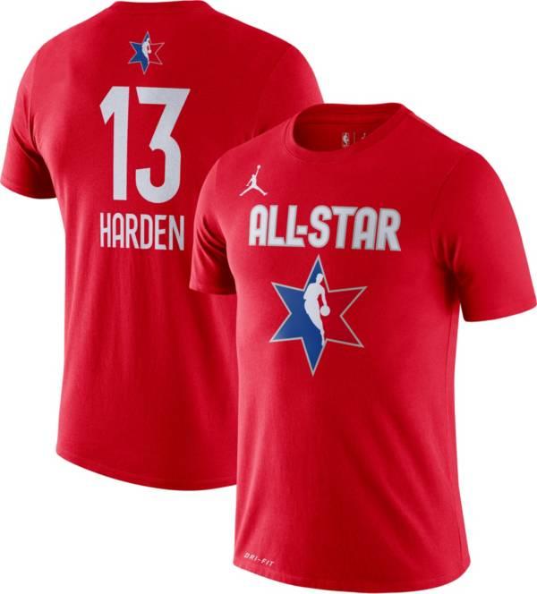Jordan Men's 2020 NBA All-Star Game James Harden Dri-FIT Red T-Shirt product image