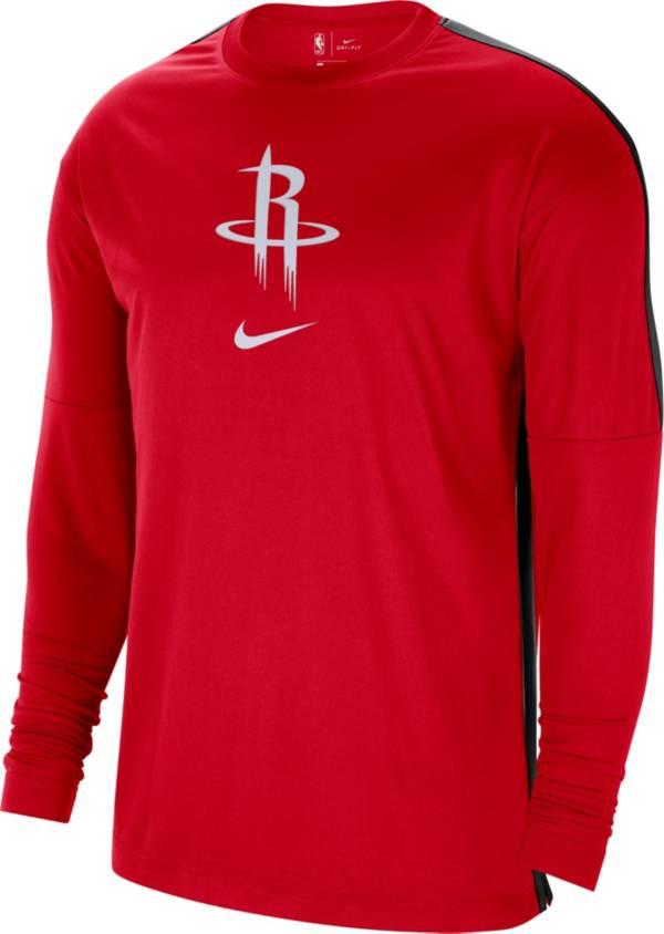 Nike Men's Houston Rockets Red Dri-FIT Long Sleeve Shooting Shirt product image