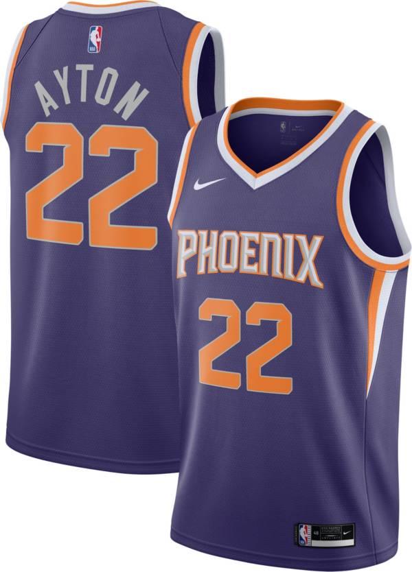 Nike Men's Phoenix Suns Deandre Ayton #22 Purple Dri-FIT Icon Jersey product image