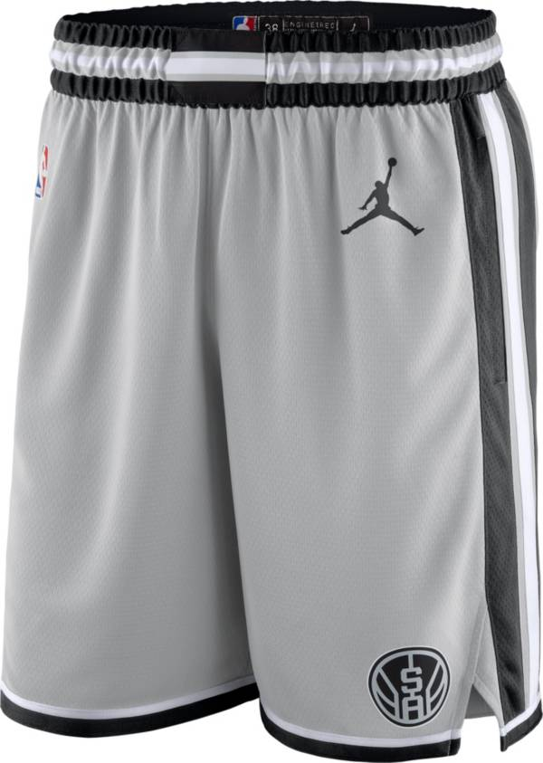 Jordan Men's San Antonio Spurs Grey Dri-FIT Statement Swingman Shorts product image
