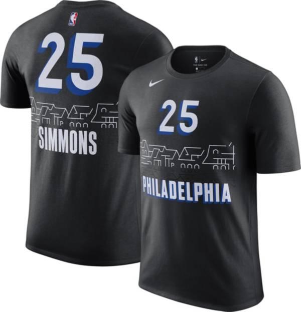 Nike Men's 2020-21 City Edition Philadelphia 76ers Ben Simmons #25 Cotton T-Shirt product image