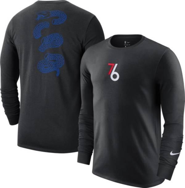 Nike Men's 2020-21 City Edition Philadelphia 76ers Courtside Long Sleeve T-Shirt product image
