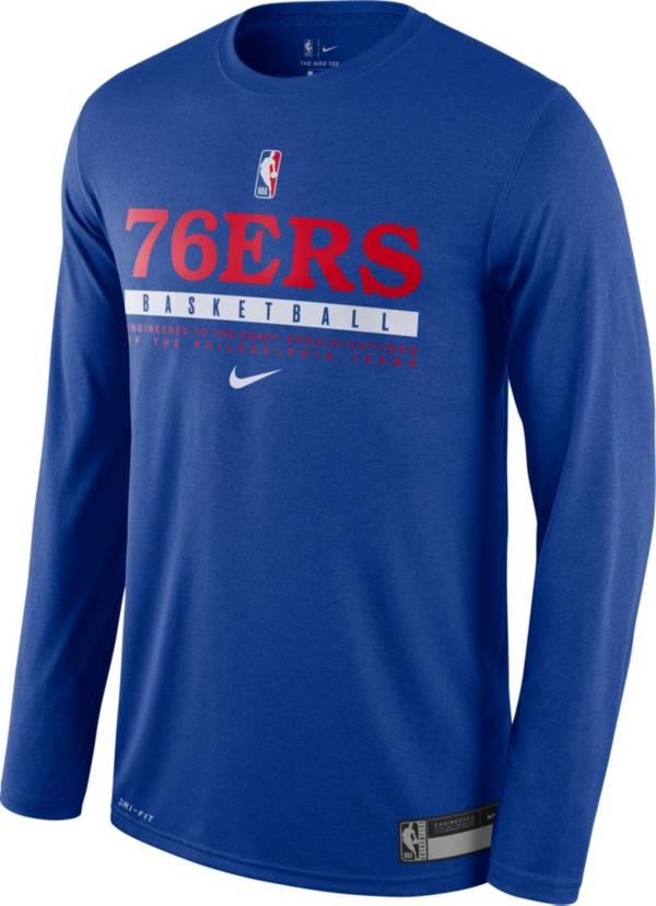 Nike Men's Philadelphia 76ers Dri-FIT Practice Long Sleeve Shirt product image