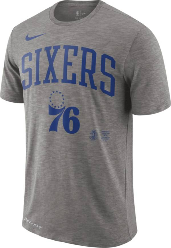 Nike Men's Philadelphia 76ers Dri-FIT Arch Wordmark Slub T-Shirt product image