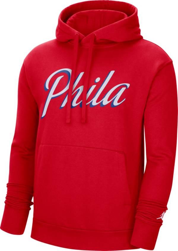 Jordan Men's Philadelphia 76ers Red Statement Pullover Hoodie product image