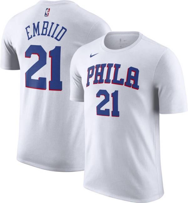Nike Men's Philadelphia 76ers Joel Embiid #21 White T-Shirt product image