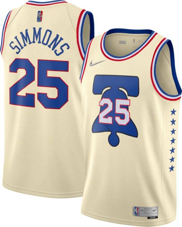 Nike Men's Philadelphia 76ers 2021 Earned Edition Ben Simmons  Dri-FIT Swingman Jersey product image