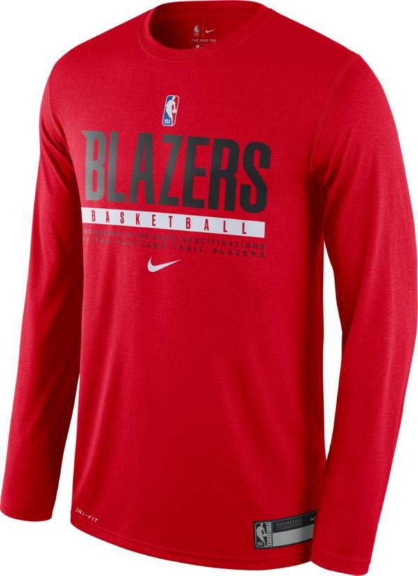 Nike Men's Portland Trail Blazers Dri-FIT Practice Long Sleeve Shirt product image