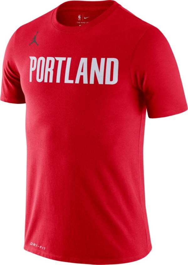 Jordan Men's Portland Trail Blazers Red Dri-FIT Statement Edition T-Shirt product image