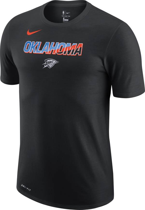 Nike Men's 2020-21 City Edition Oklahoma City Thunder Dri-FIT Logo T-Shirt product image