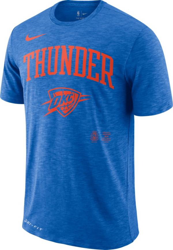 Nike Men's Oklahoma City Thunder Dri-FIT Arch Wordmark Slub T-Shirt product image