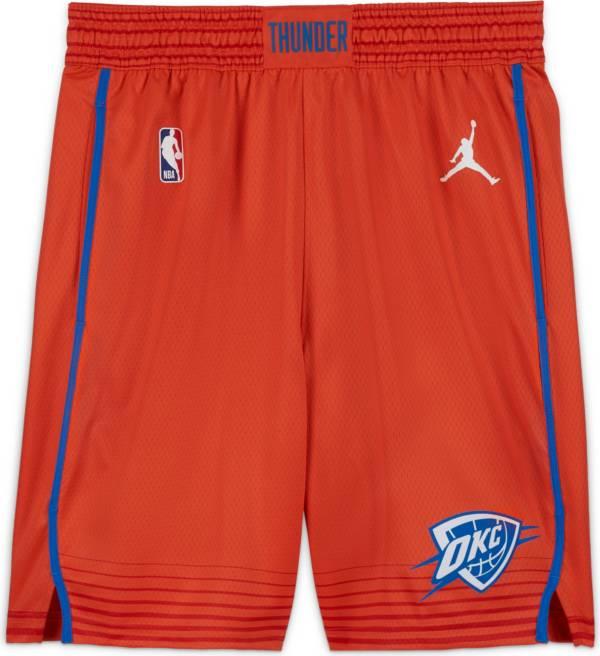 Jordan Men's Oklahoma City Thunder Orange Dri-FIT Statement Swingman Shorts product image