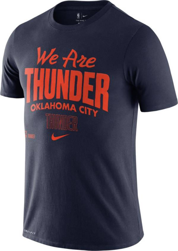 Nike Men's Oklahoma City Thunder Navy Dri-FIT Mantra T-Shirt product image
