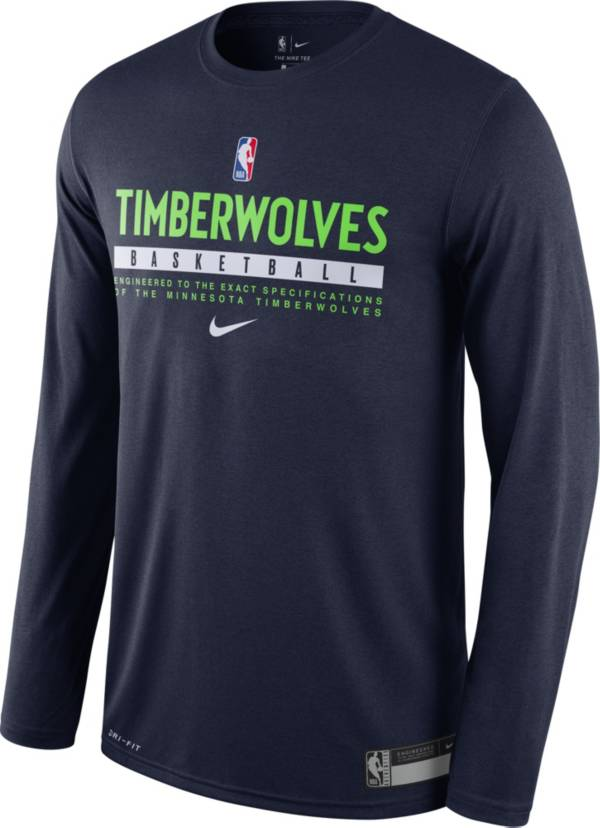 Nike Men's Minnesota Timberwolves Dri-FIT Practice Long Sleeve Shirt product image