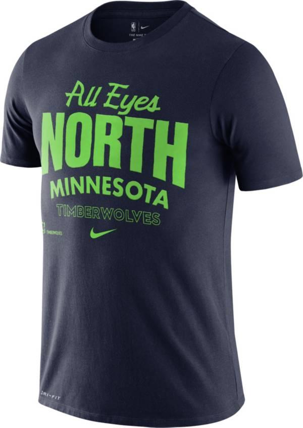 Nike Men's Minnesota Timberwolves Navy Dri-FIT Mantra T-Shirt product image