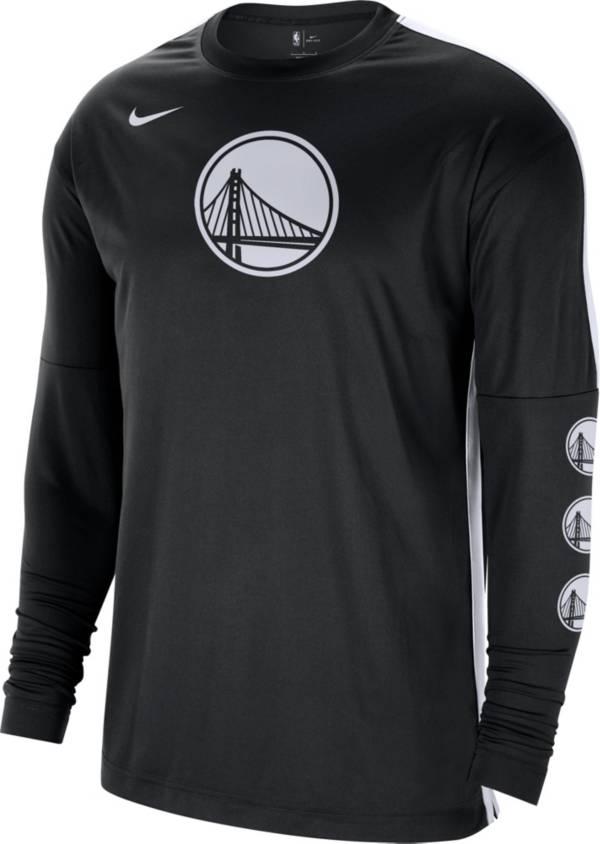 Nike Men's Golden State Warriors Black Tonal Dri-FIT Long Sleeve Shooting Shirt product image
