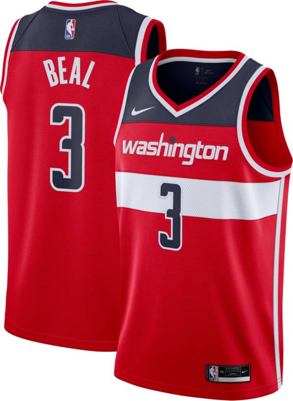 Nike Men's Washington Wizards Bradley Beal #3 Red Dri-FIT Icon Jersey product image