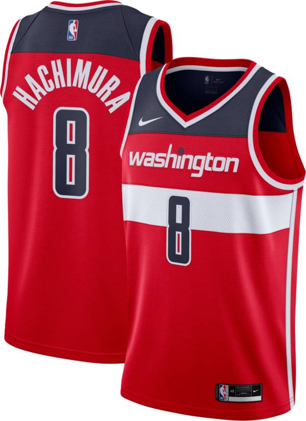 Nike Men's Washington Wizards Rui Hachimura #8 Red Dri-FIT Icon Jersey product image