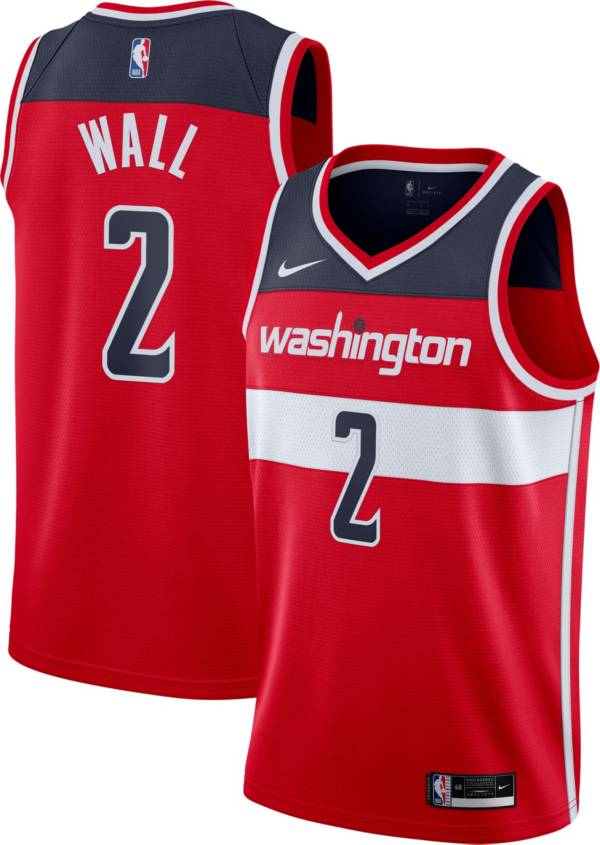 Nike Men's Washington Wizards John Wall #2 Red Icon Jersey product image