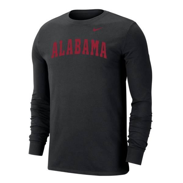 Nike Men's Alabama Crimson Tide Dri-FIT Long Sleeve Black T-Shirt product image