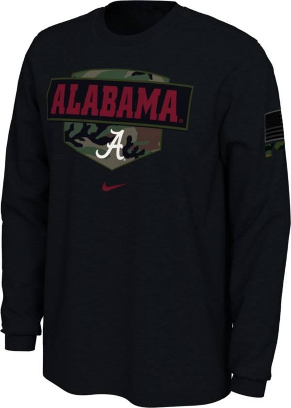 Nike Men's Alabama Crimson Tide 'Veterans Day' Long Sleeve Black T-Shirt product image