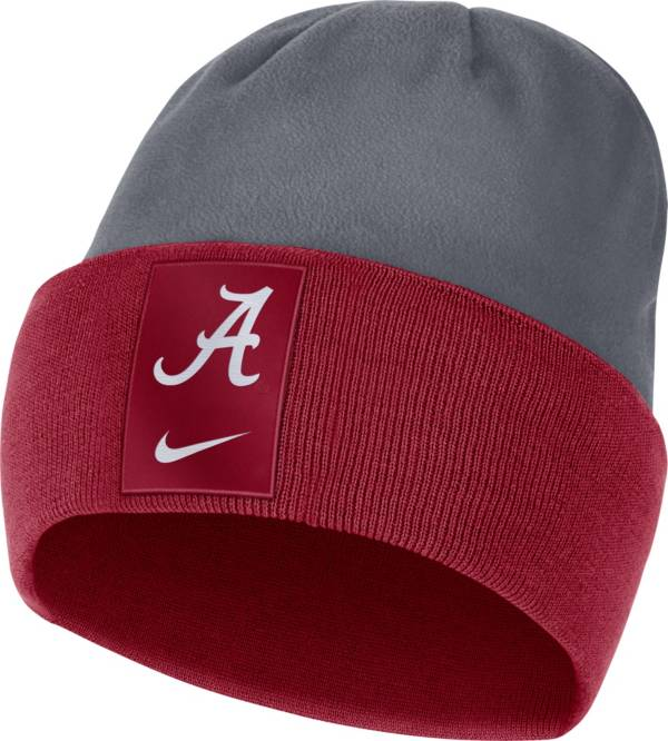 Nike Men's Alabama Crimson Tide Crimson/Grey Dri-FIT Football Sideline Cuffed Knit Beanie product image